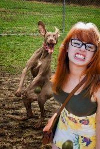 Image of girl and dog