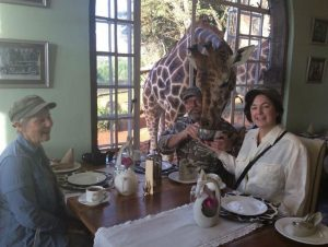Image of breakfast with the giraffe