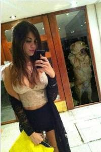 Image of girl with dog photobombing